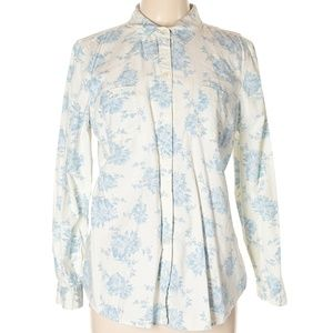 Old Navy Light blue floral button up